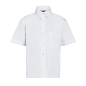 Short Sleeve Easycare Polycotton Shirts - Twin Packaging - juniors